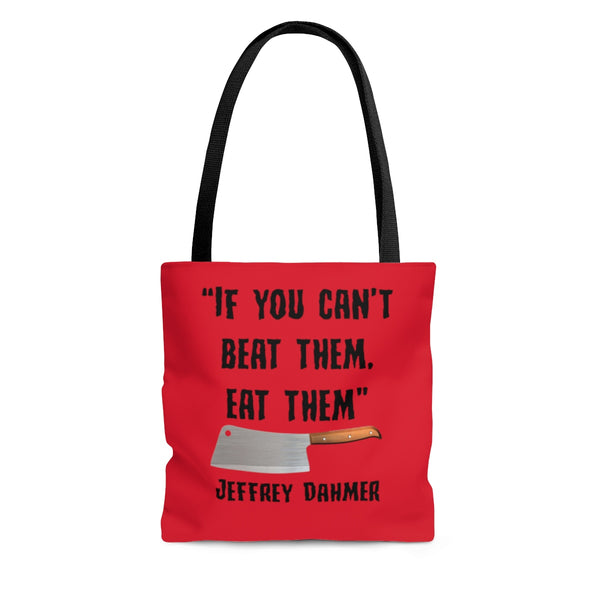 Serial killer funny quote tote bag