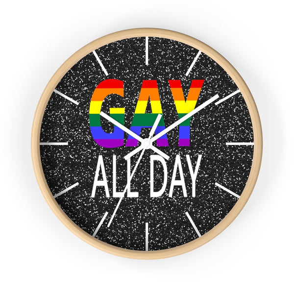 Gay all day wall clock