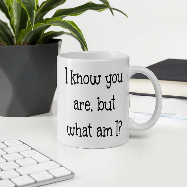 I know you are but what am I funny childish humor mug