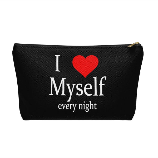 Sex toy pouch bag for vibrator or dildo. Adult toy storage. I love myself every night