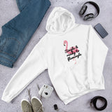 Single and ready to mingle funny flamingo pun Unisex Hoodie
