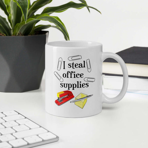 I steal office supplies funny mug for work