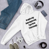 Funny apple a day keeps anyone away Unisex Hoodie