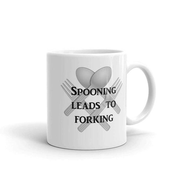 Spooning leads to forking sexual humor pun mug