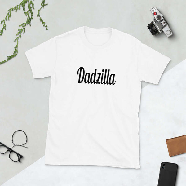 Funny Dadzilla gift for dad Short-Sleeve Unisex T-Shirt