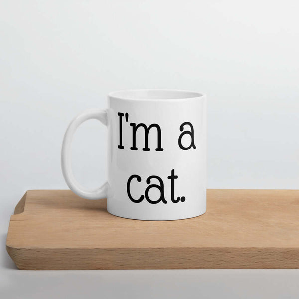 I'm a cat cute coffee mug