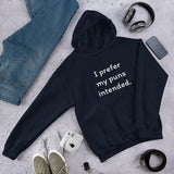 I prefer my puns intended funny Unisex Hoodie