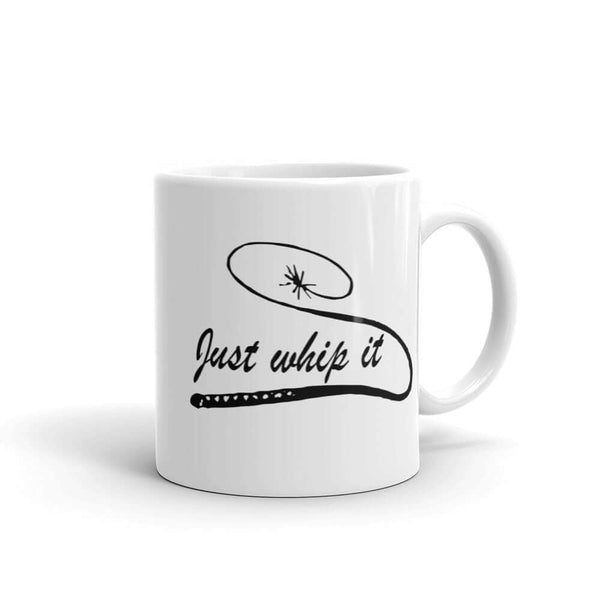 Just whip it bullwhip BDSM humor mug