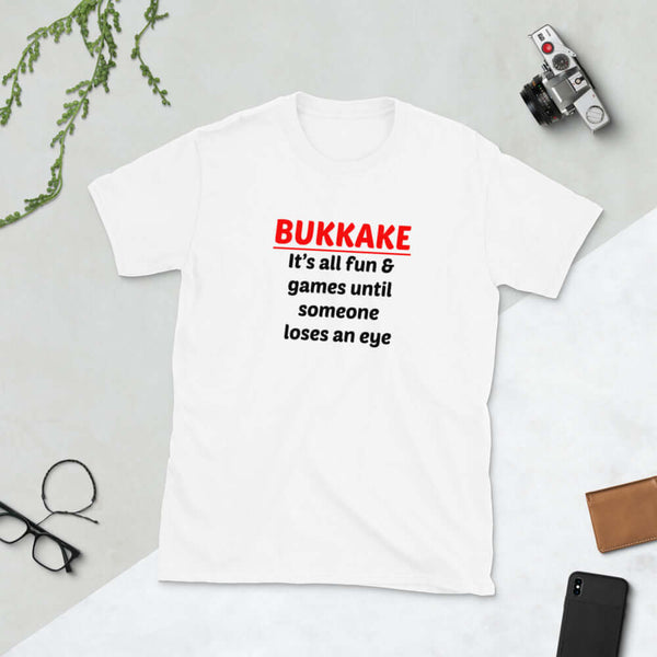 Funny bukkake sex party joke Short-Sleeve Unisex T-Shirt