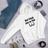 Real friends show me books funny unisex hoodie