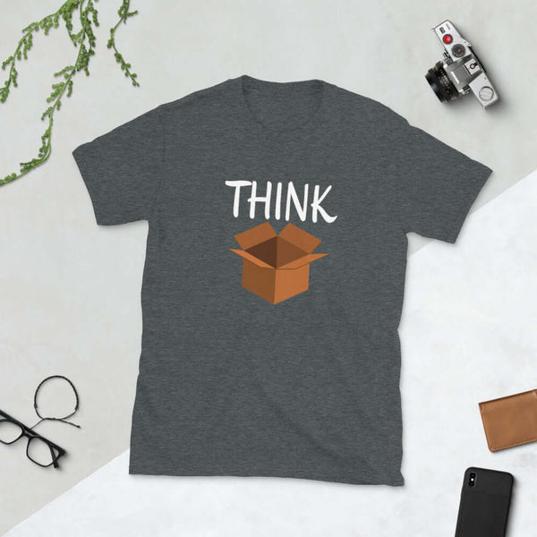 Think outside the box independent thinker Short-Sleeve Unisex T-Shirt