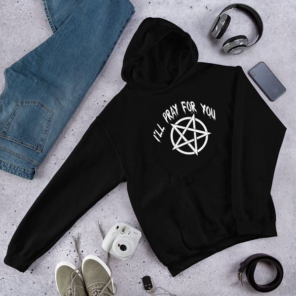 Pentagram I'll pray for you Unisex Hoodie