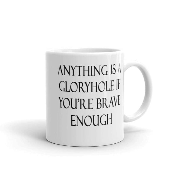 Funny gloryhole sexual humor inappropriate jokes coffee mug