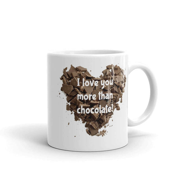 Funny I love you more than chocolate valentines day novelty mug