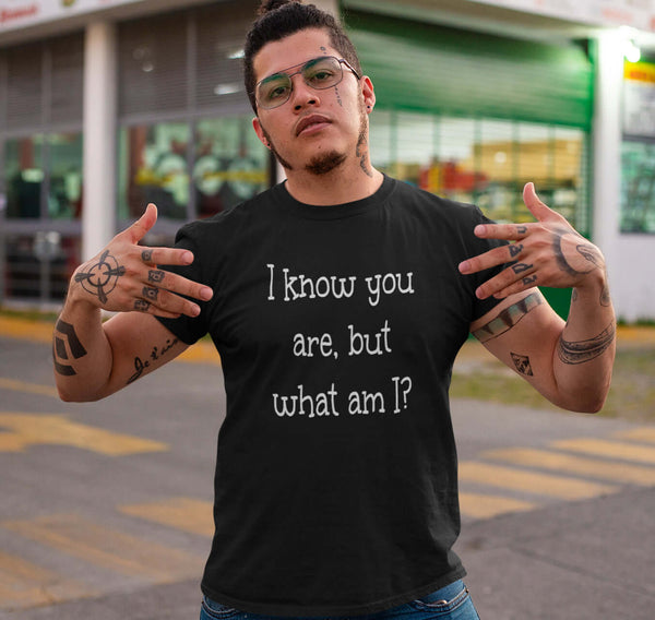 Funny Short-Sleeve Unisex T-Shirt. I know you are but what am I?