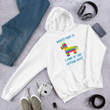BDSM humor pinata unisex hoodie. Worst part is I kind of like getting beat
