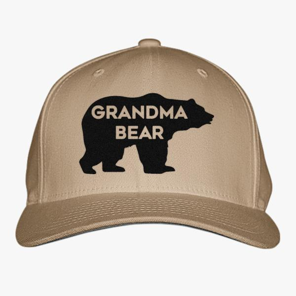 Family Custom Baseball Hats: Grandma Bear