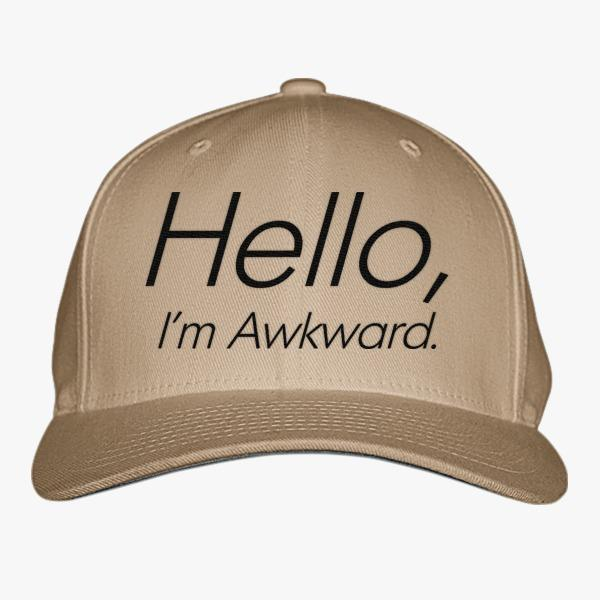 Funny Custom Baseball Hats: Hello I'm Awkward