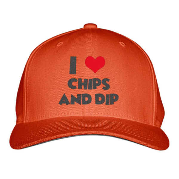 Custom Baseball Hats – Gourmet Edition: I Love Chips and Dips