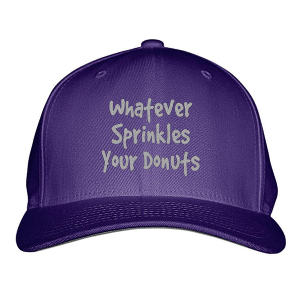 Trendy Hats with Memorable Quotes: Whatever Sprinkles Your Donuts