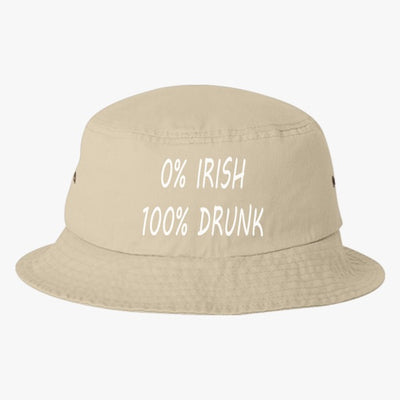 0% Irish 100% Drunk Bucket Hat