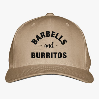 Barbells And Burritos Tshirt - Foodie Fitness Tshirt, Foodie Workout Shirt, Foodie Shirt, Foodie Gift, Gift For Foodie, Fit Foodie Shirt Embroidered Baseball Cap