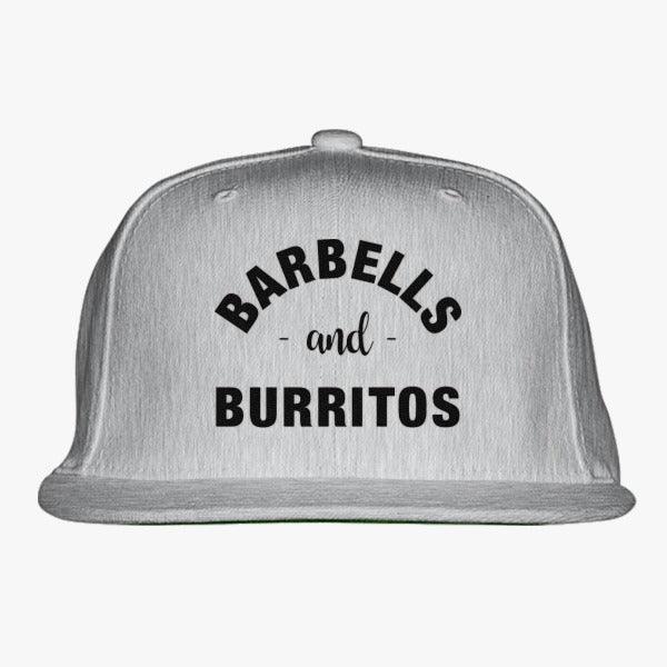 Barbells And Burritos Tshirt - Foodie Fitness Tshirt, Foodie Workout Shirt, Foodie Shirt, Foodie Gift, Gift For Foodie, Fit Foodie Shirt Embroidered Snapback Hat