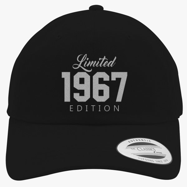 1967 Limited Edition Birthday Embroidered Cotton Twill Hat