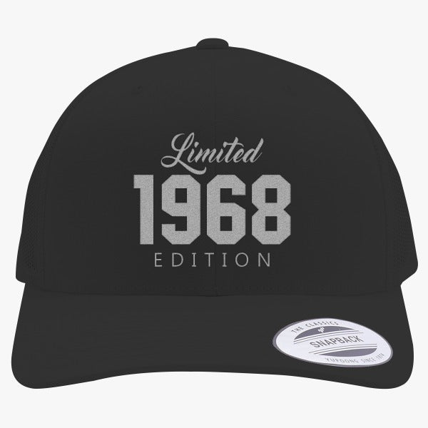 1968 Limited Edition Birthday Embroidered Retro Embroidered Trucker Hat
