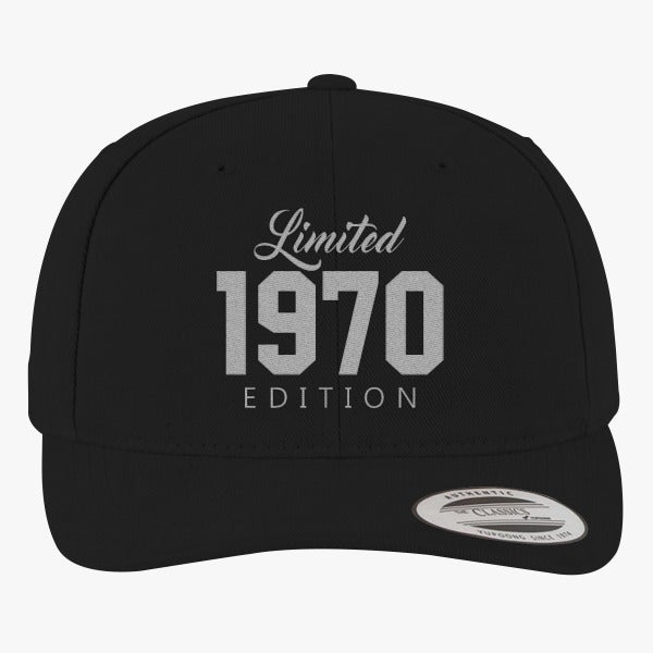 1970 Limited Edition Birthday Brushed Embroidered Cotton Twill Hat