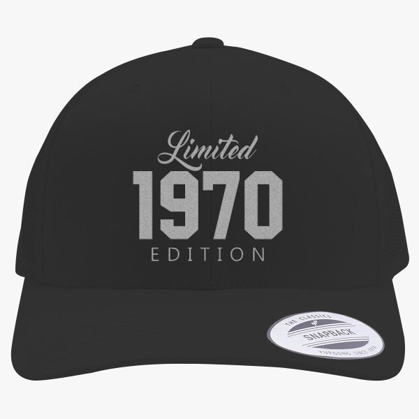 1970 Limited Edition Birthday Embroidered Retro Embroidered Trucker Hat
