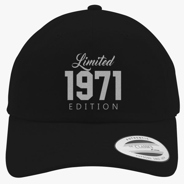 1971 Limited Edition Birthday Embroidered Cotton Twill Hat