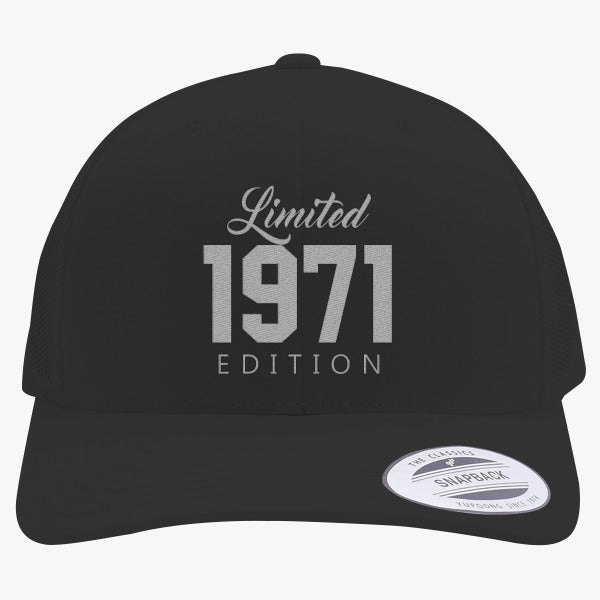 1971 Limited Edition Birthday Embroidered Retro Embroidered Trucker Hat
