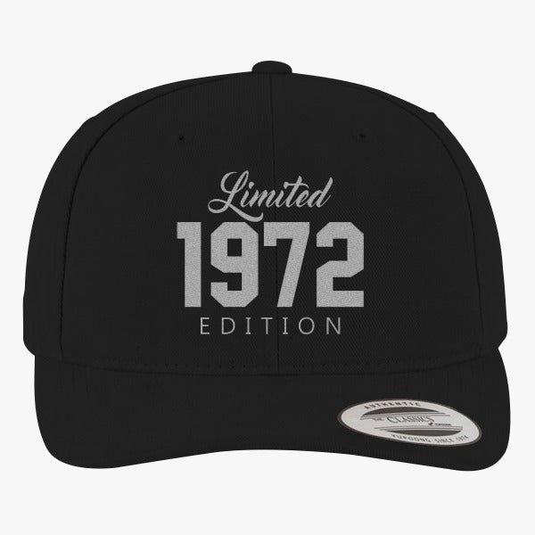 1972 Limited Edition Birthday Brushed Embroidered Cotton Twill Hat