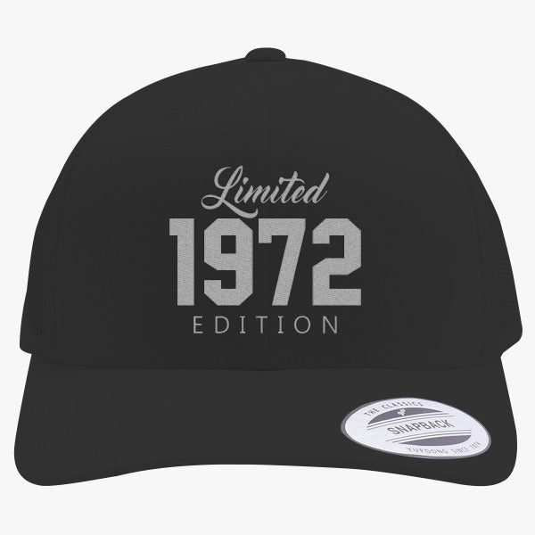 1972 Limited Edition Birthday Embroidered Retro Embroidered Trucker Hat