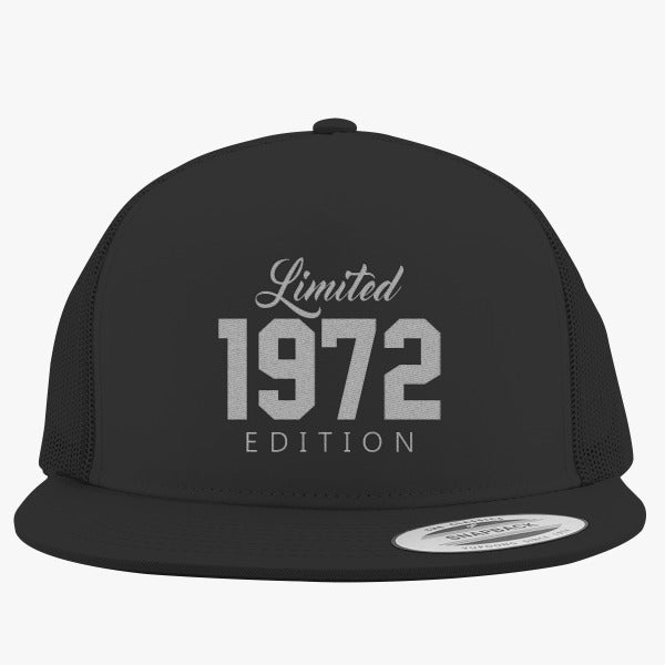 1972 Limited Edition Birthday Embroidered Trucker Hat