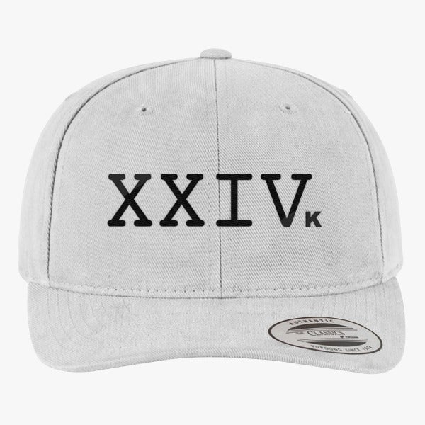 24K Magic Logo Brushed Embroidered Cotton Twill Hat