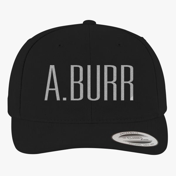 A. Burr Brushed Embroidered Cotton Twill Hat