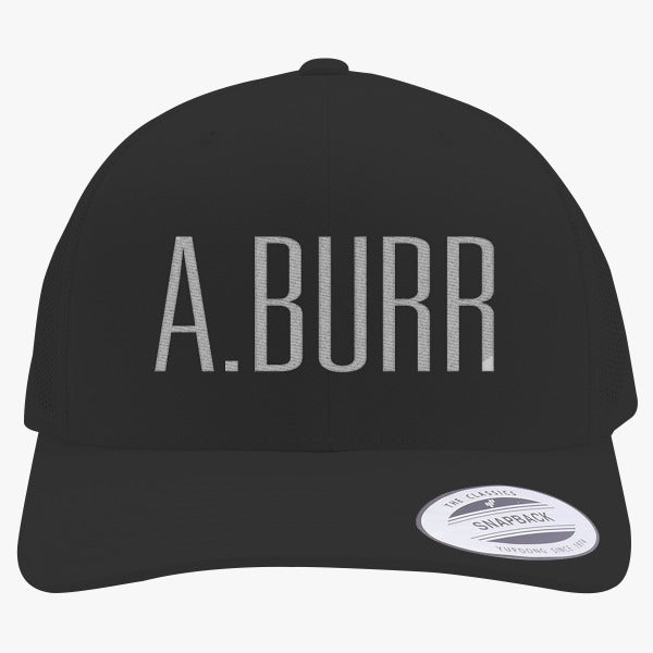 A. Burr Embroidered Retro Embroidered Trucker Hat