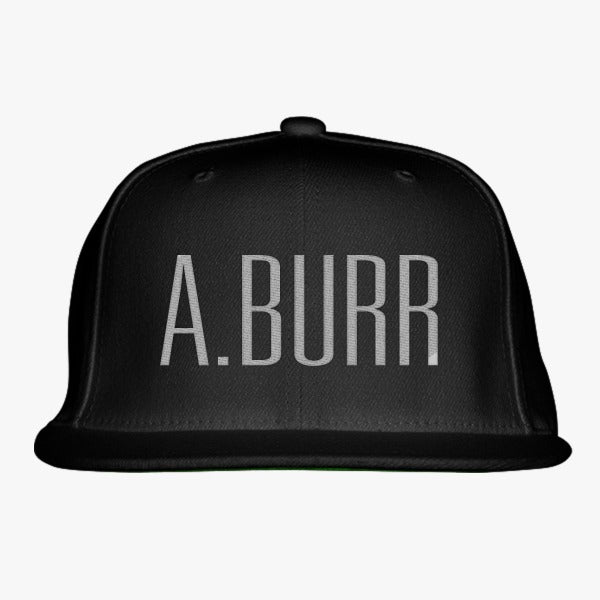 A. Burr Embroidered Snapback Hat