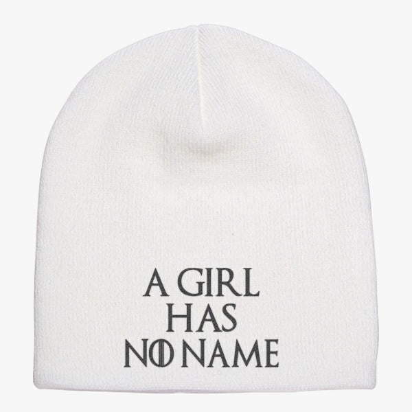 A Girl Has No Name Knit Beanie