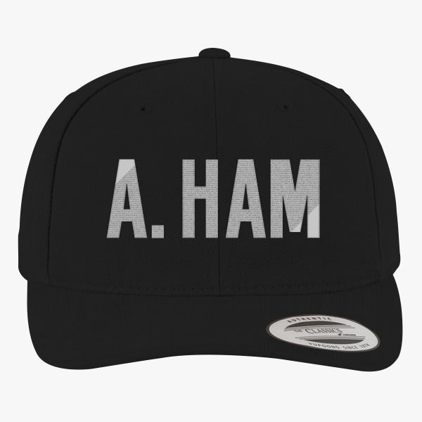 A. Ham Brushed Embroidered Cotton Twill Hat