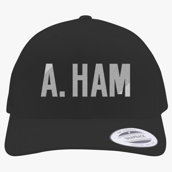 A. Ham Embroidered Retro Embroidered Trucker Hat