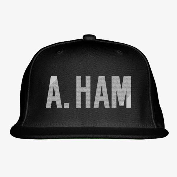 A. Ham Embroidered Snapback Hat