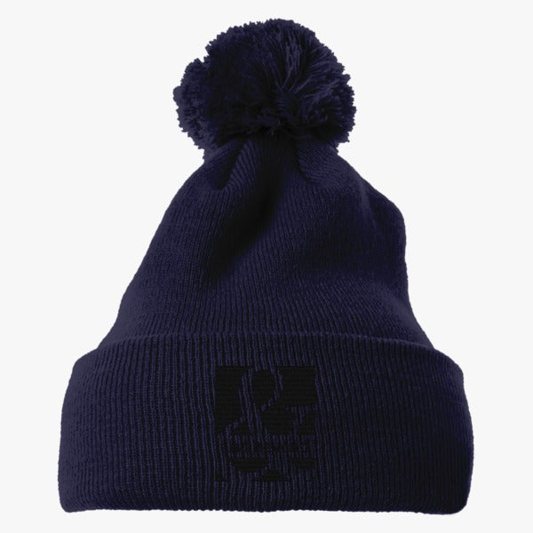 Above And Beyond Embroidered Knit Pom Cap