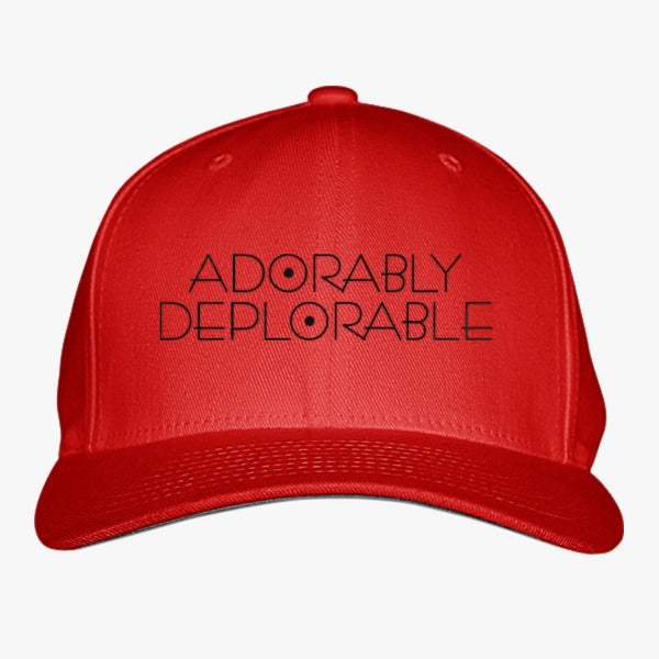 Adorably Deplorable - Trump Basket Of Deplorables Embroidered Baseball Cap