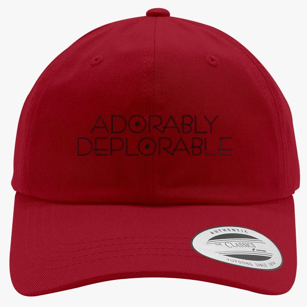 Adorably Deplorable - Trump Basket Of Deplorables Embroidered Cotton Twill Hat