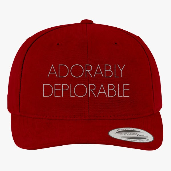Adorably Deplorable Brushed Embroidered Cotton Twill Hat