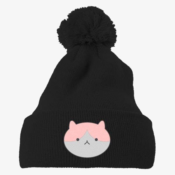 Adventure Time Princess Bubblegum Timmy The Cat Embroidered Knit Pom Cap