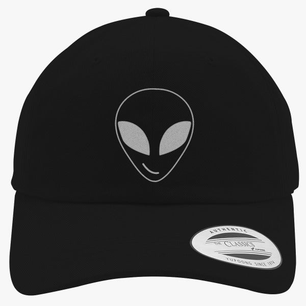 Alien Smiling Pocket Embroidered Cotton Twill Hat